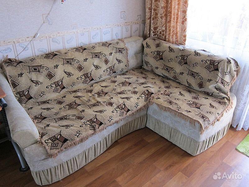Покрывала на угловой диван своими руками