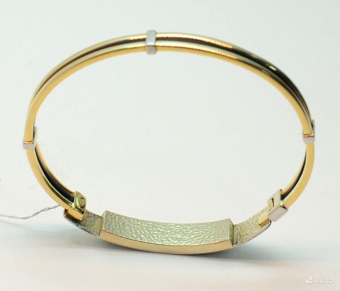 Браслет золото 585 пробы каучук