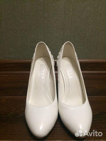 Белые туфли со стразами (свадебные) купить 1