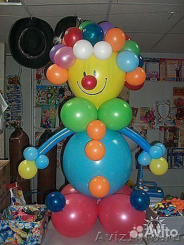 Клоун из воздушных шаров своими руками мастер класс