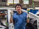 Рабочие на заводы в Южной Корее
