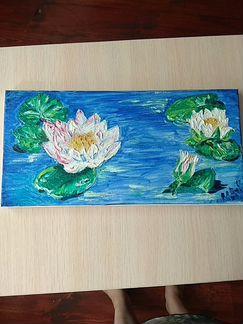 Лилии на пруду 20*40 объявление продам