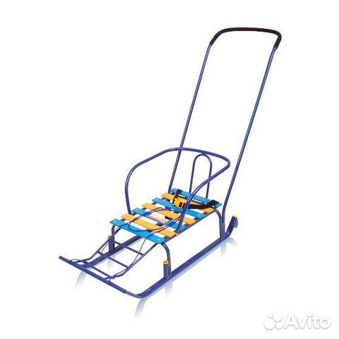 санки для двоих на колесиках
