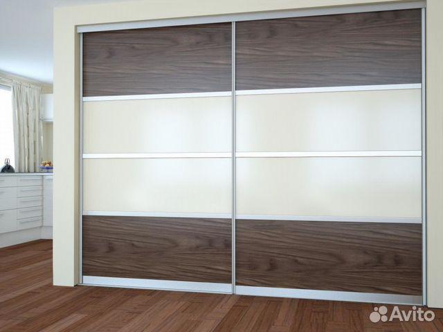 Встроенный шкаф-купе с широкими дверьми купить в санкт-петер.