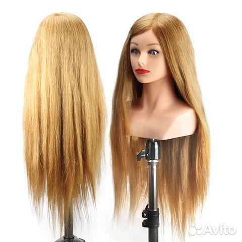 Голова для плетения косичек с натуральных волос