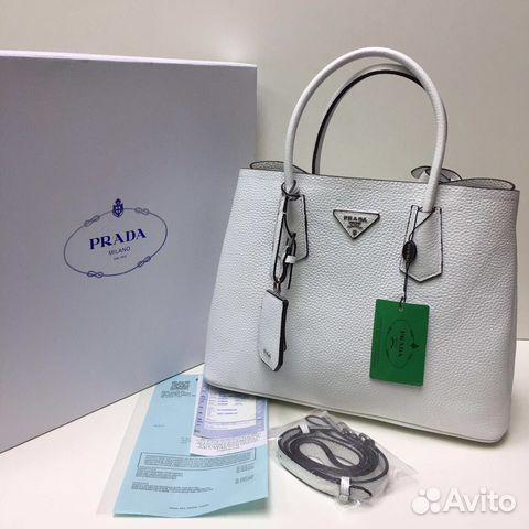 Купить белую сумку prada mr furs купить в интернет