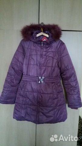 Зимний пуховик на девочку 7-11 лет