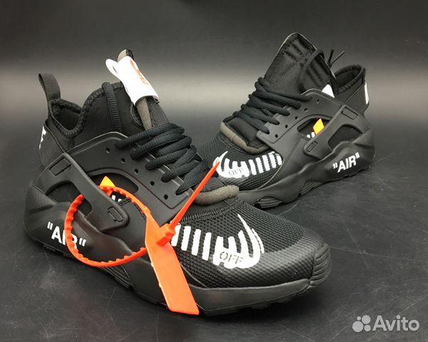 e9e54a1c Nike air huarache off white черные все размеры купить в Москве на ...