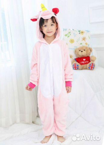 Пижама Кигуруми Единорог (115-125 см)  b96d302d12743