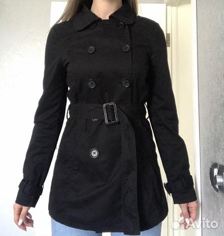 0e8b3f23fd8 Пальто плащ демисезон чёрный Stradivarius