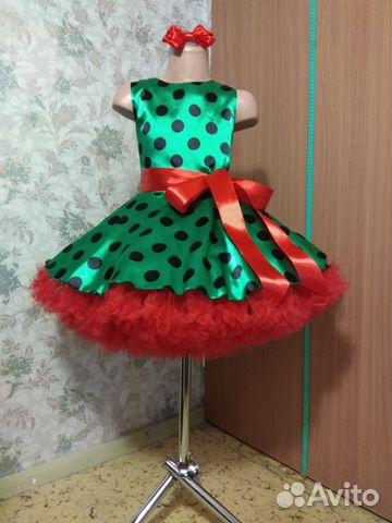 feb0d16b559 Детское платье стиляги в горошек с пышным подъюбн купить в Москве на ...