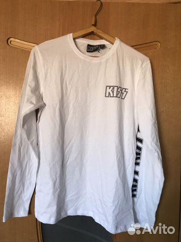 Новая белая футболка Kiss с длинными рукавами купить в Ростовской ... ab9341171c5dc