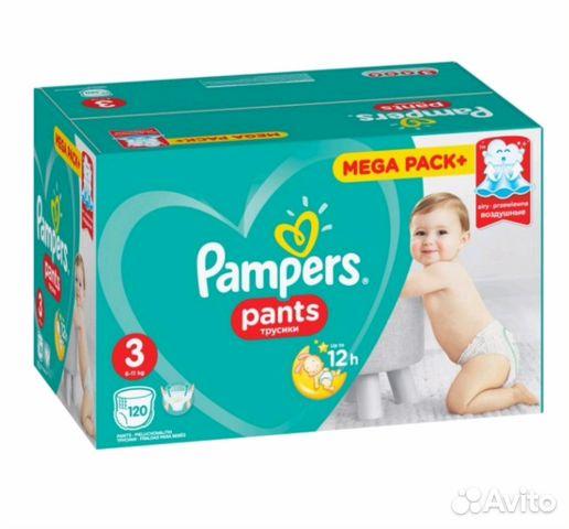 Трусики Pampers pants 3, 120 шт   Festima.Ru - Мониторинг объявлений b3383e269fc