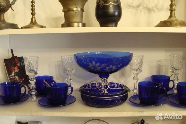 1316ae76bcc1 Посуда из синего стекла купить в Белгородской области на Avito ...