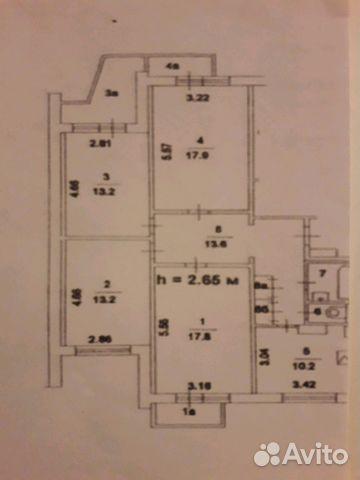 Продается четырехкомнатная квартира за 11 100 000 рублей. Москва, Чечёрский проезд, 66.