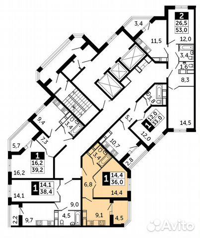 Продается однокомнатная квартира за 2 071 000 рублей. Московская область, Раменское, Северное шоссе, к10.