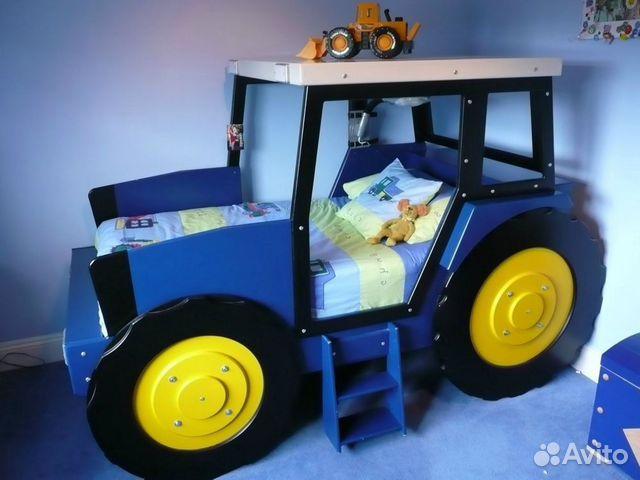 Кроватка Синий трактор из мультика купить в Санкт ...
