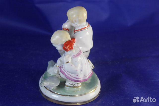 Фарфор статуэтка Дети и голуби Старый Киев Глобус 89203149703 купить 5