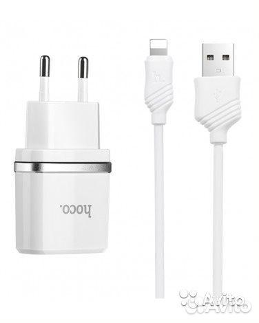 84942303606 Зарядное уст-во с кабелем Носо C12 Smart dual 2.4A