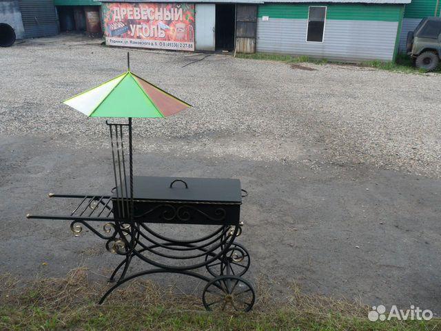 Мангал на колесах с зонтиком  89203488069 купить 1