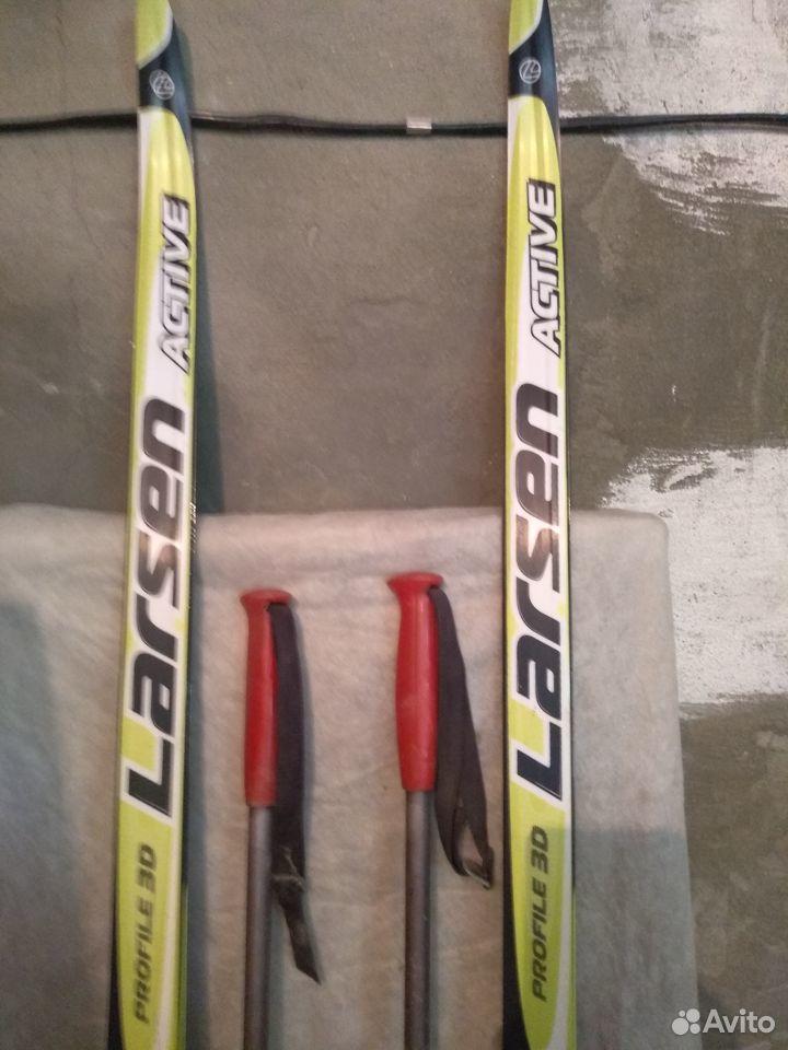 Лыжи беговые с креплениями и палками  89910752469 купить 2
