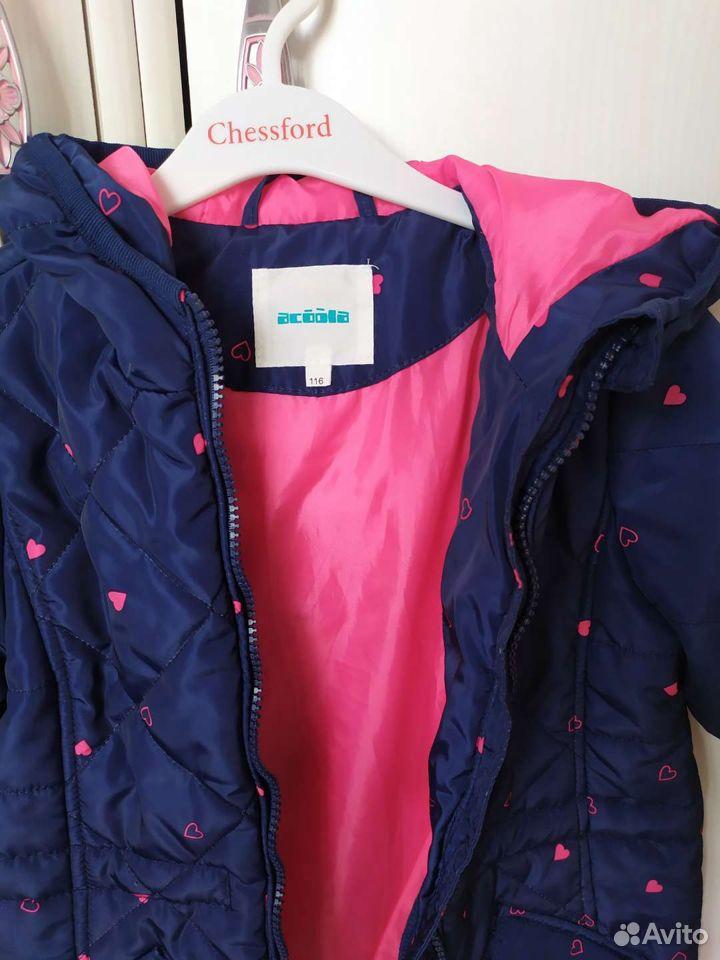 Детская куртка для девочки. рост 116