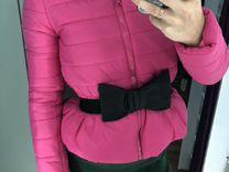 Куртка Розовая с поясом — Одежда, обувь, аксессуары в Санкт-Петербурге