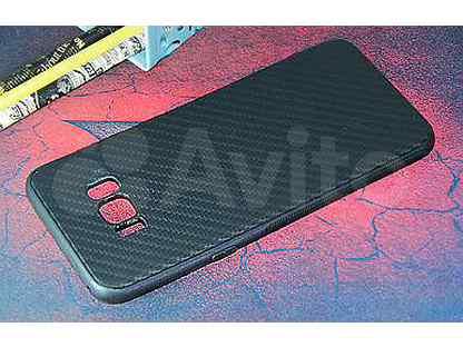 Чехол-накладка для Samsung G955F S8 Plus carbon TPU черный