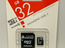 """Карта памяти Micro SD """"Smartbuy"""" 32 гб"""