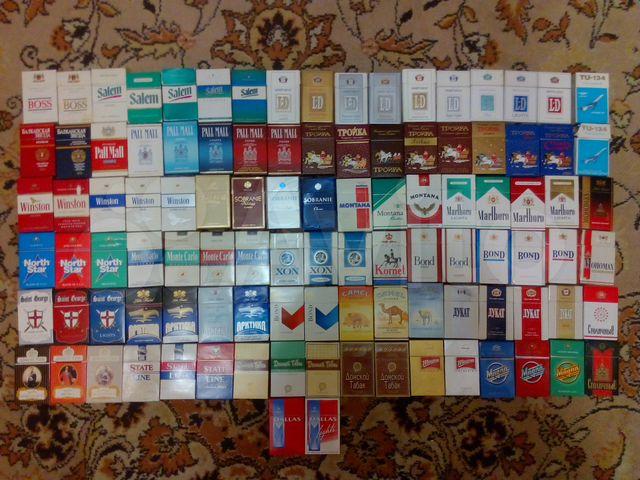Коллекция пачек сигарет купить электронная сигарета купить в уссурийске