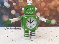Детские Часы будильник Роботы
