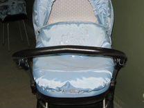 Новая коляска цвета неба Lonex 2 в 1