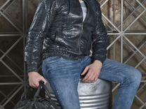 Мужская куртка из натуральной кожи питона С.11